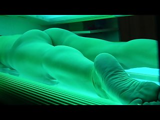 Brunette amateur secretly filmed humping vibe in tanning bed foot fetish