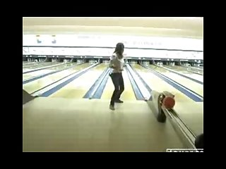 Shay laren playing wii and goes bowling