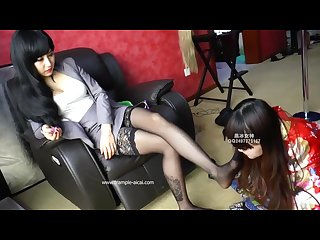 Nylon feet smother pantyhose foot sniffing girls sosters footjob worship107