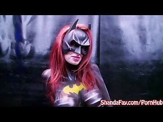 Sexy milf shanda fay dressed as slutty batwoman