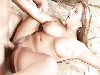 Horny milf fucking and receives cim on her tits