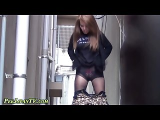 Alley way pissing asians