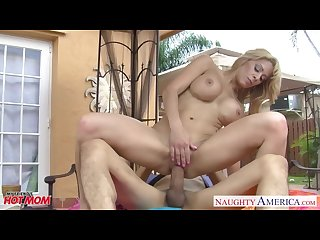 Hottie mom alyssa lynn fucking a large cock at Poolside