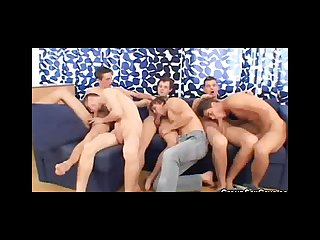 Hot gay men cock sucking orgy