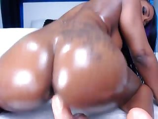 Persia black rides toy with her booty