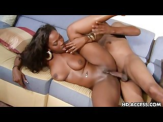 Ebony araynna star gets cum all over her big tits