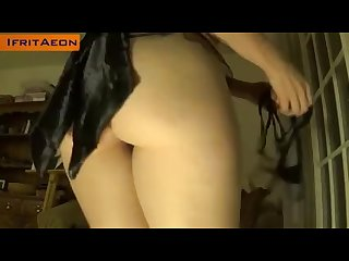 Big ass redhead milf in tight tiny thong shakes her wonderful bubble butt