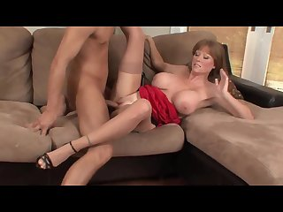 Mature redhead stepmom teach sex