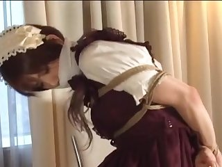 Japanese maid bondage
