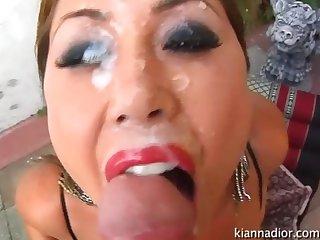 Kianna dior facial cumpilation