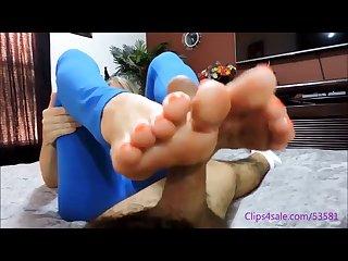 Mo rima pilates footjob