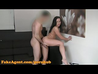 Fakeagent hd surprise creampie for hot brunette