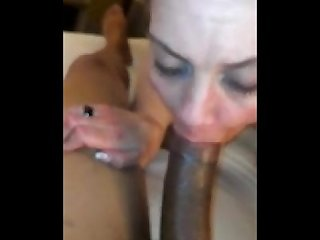 A blonde milf tagged by bbc s