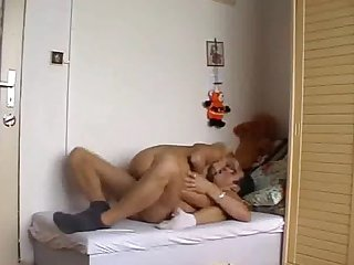Hot couple on single bed 2