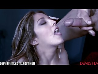 Devilsfilm Jenna haze takes load in hot mouth