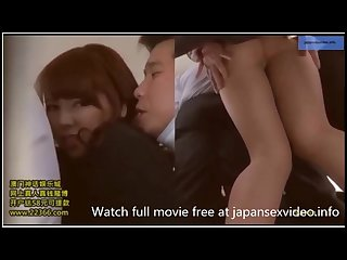 Sexy japanese secretary in bus touched and groped in pantyhose by Chikan