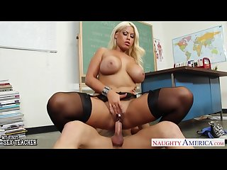 Very sexy teacher bridgette b fuck in classroom