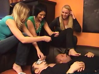 Sock sniffing with 3 hot girls