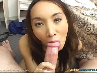 Povperverts asian beauty Katsuni stretches her asshole around big cock