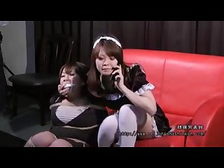 Japanese bondage by her maid