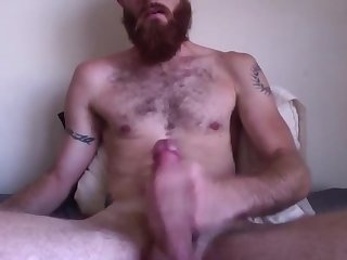 Bearded redneck jerk off