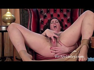 Hairy woman sharlyn enjoys making a personal video