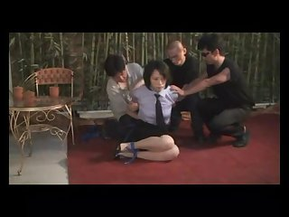 Fashen asian ladys tied and gagged
