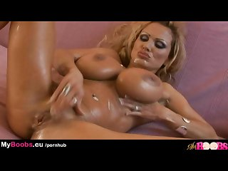 Sharon pink busty milf masturbates in whipped cream