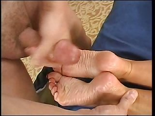 Cum coating Janet S wrinkled soles