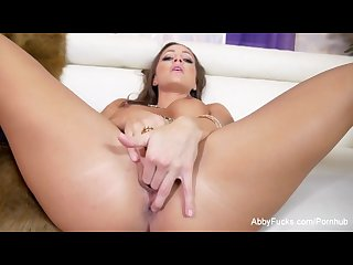 Abigail mac makes herself cum for the camera