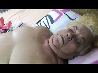 Very old granny masturbate with mature nurse