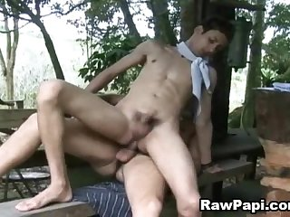 Nude sexy and horny Latino gay bareback sex