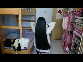 Hairjob long hair asian