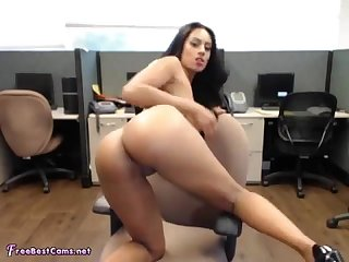 Indian wife masturbates in public work office on webcam