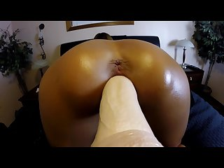Close up wife doggy style fucking dildo machine anal vibrator orgasms