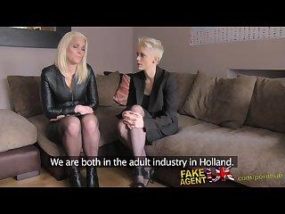 Fakeagentuk threesome with dutch porn models