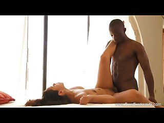 Ebony couple lovers sensuality