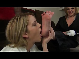 Bella earns her white belt foot worship
