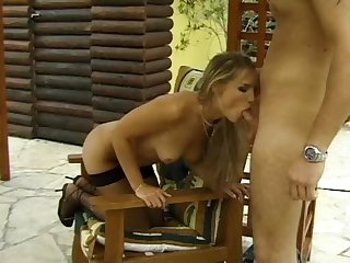 Well shaped blondie getting assfucked