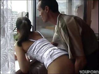 Father anal fucks step daughter