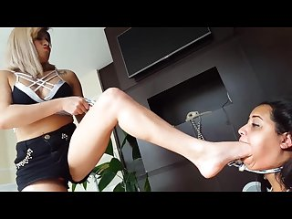 Lesbian hard foot humiliation foot gagging