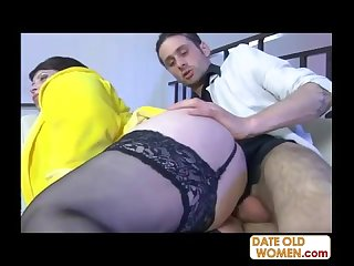 Big ass fat old mom gets fucked