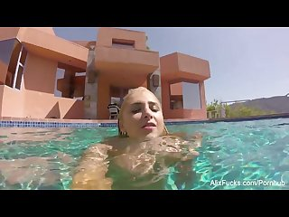 Busty blondes alix cherie go skinny dipping