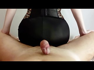 Milf makes assjob in spandex pants um on my yoga pants pov