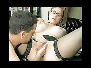 Secretary gives boss awesome blowjob