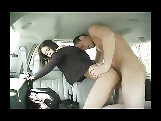 Melissa doll with monster in car