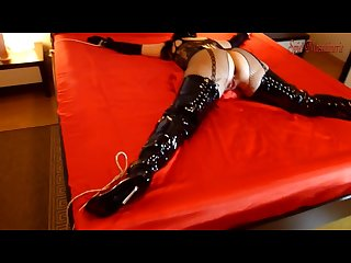 1 spread eagle bondaged slut in thigh high boots the begginng