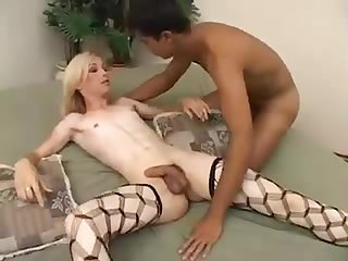 Cute slim blonde fucked by gorgeous cock