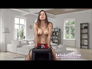 Lelu love two sybian orgasms during webcam show