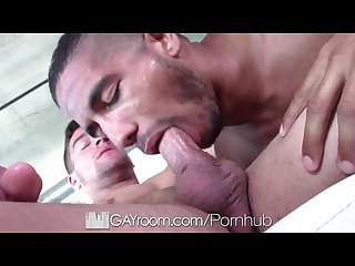 Gayroom new toy warms up mike maverick for dick